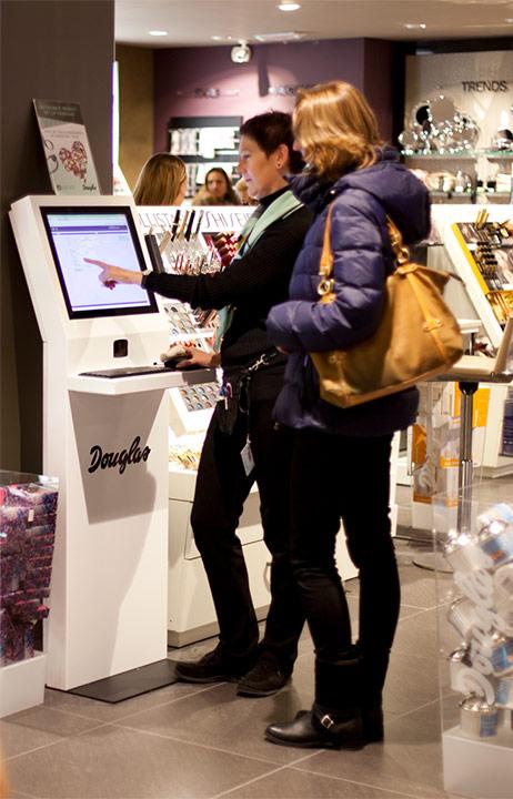 Parfumerie Douglas, shop-in-shop kiosk