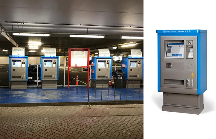 Parkeerautomaten en OV kaart kiosken
