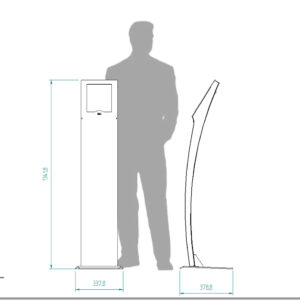 diz1510 portrait, designer tablet kiosk