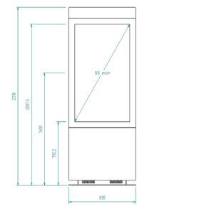 diz2455P MAX, dimensions