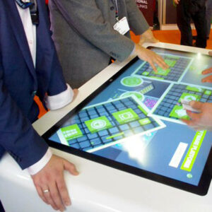multitouch-table on trade fair