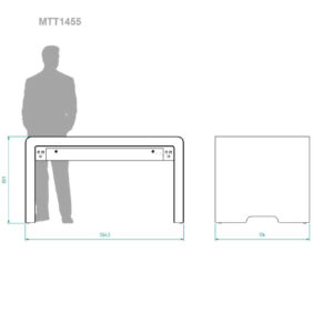 diz1455MTT multitouch table, dimensions