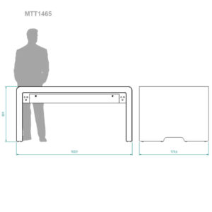 diz1465MTT multitouch table, dimensions