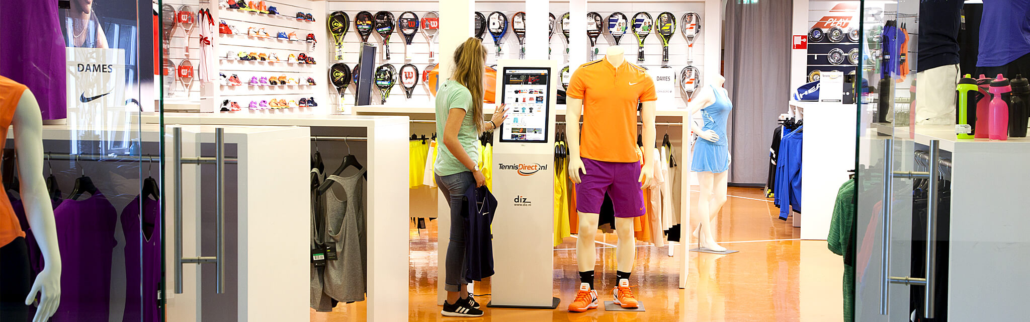 Tennis Direct, shop-in-shop kiosk