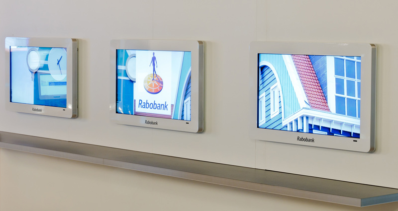 Rabobank, monitorbehuizingen