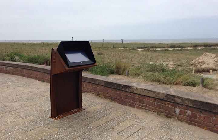 Outdoor maatwerk zuil Stichting Monument Engelandvaarders