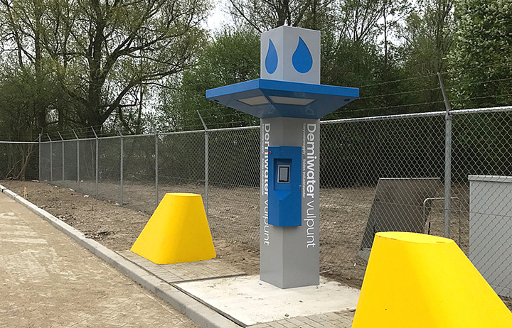 Evides Industrial Water control kiosk