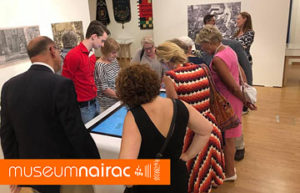Multitouch tafel voor Museum Nairac