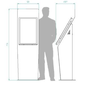 diz1632P kiosk dimensions