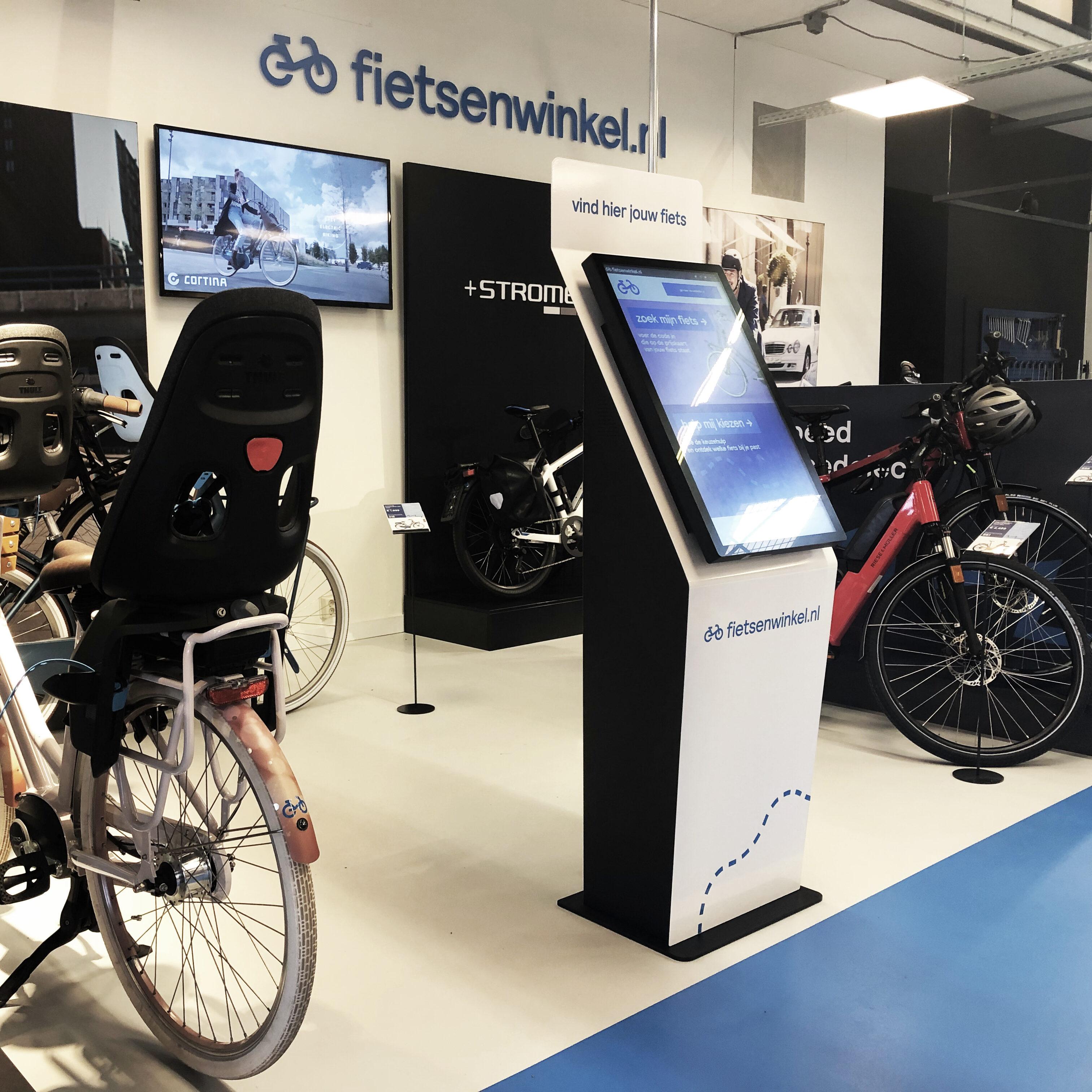 diz1632P kiosk in a bike shop