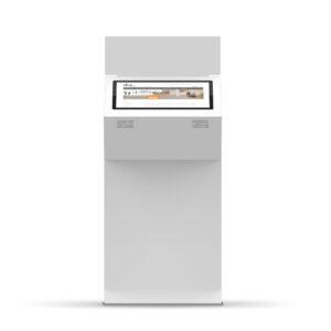diz1822 L, information kiosk with signage panel, frontview