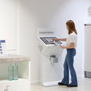 Registration kiosk in a hospital setting