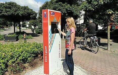 Toeristische infozuil voor VVV Nederland
