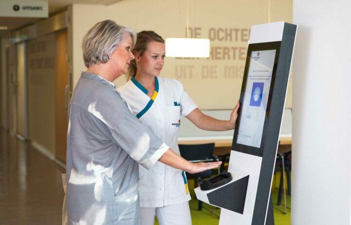 Handscanner in ziekenhuis