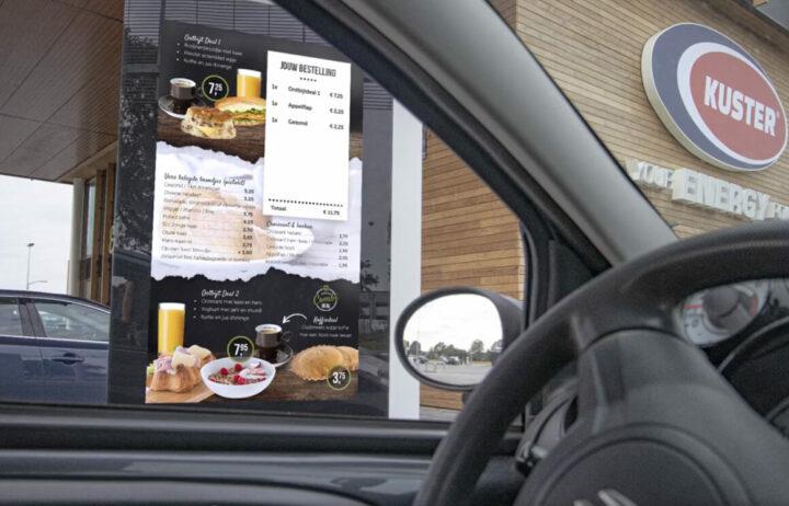 Drive-through kiosk bij Kuster Olie