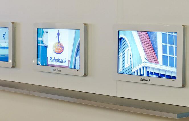 Wachtruimte schermen Rabobank