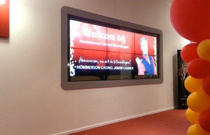 Videowall voor Hommerson Casino's