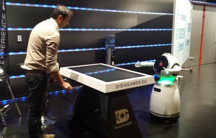 Digitale voetbaltafel