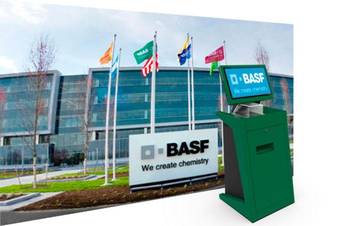 Aanmeldzuilen voor BASF