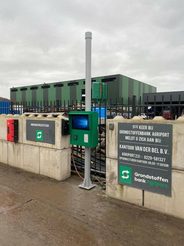 Custom outdoor kiosk voor Grondstoffenbank Agriport